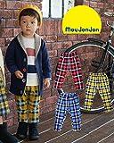 【子供服】 moujonjon (ムージョンジョン) ストレッチミニ裏毛チェック柄パンツ 70cm~140cm M55086
