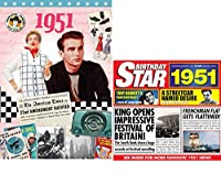 1951 Birthday Gifts Pack - 1951 DVD Film , 1951 Chart Hits CD and 1951 Birthday Card