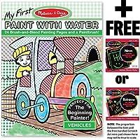 Vehicles :カラーwith Water Onlyアートアクティビティパッド+ Free Melissa & Doug Scratchアートmini-padバンドル[ 93392]