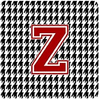 Caroline's Treasures CJ1021-ZFC Monogram-Houndstooth Foam Coasters (Set of 4), Initial Z, 8.9cm H x 8.9cm W, Multicolor