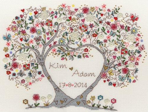 Bothy Threads クロスステッチキット Love Blossoms ラブブラッサム【並行輸入品】 XKA4
