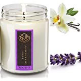 Soothing Lavender + Vanilla Aromatherapy Soy Candles | 100% Pure Essential Oils | Therapeutic Grade | Relaxation Gifts | Hand