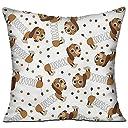 かわいい 犬 高品質 低反発 座布団 クッション 椅子用 かわいい オシャレ 寝具 中袋 中身:綿