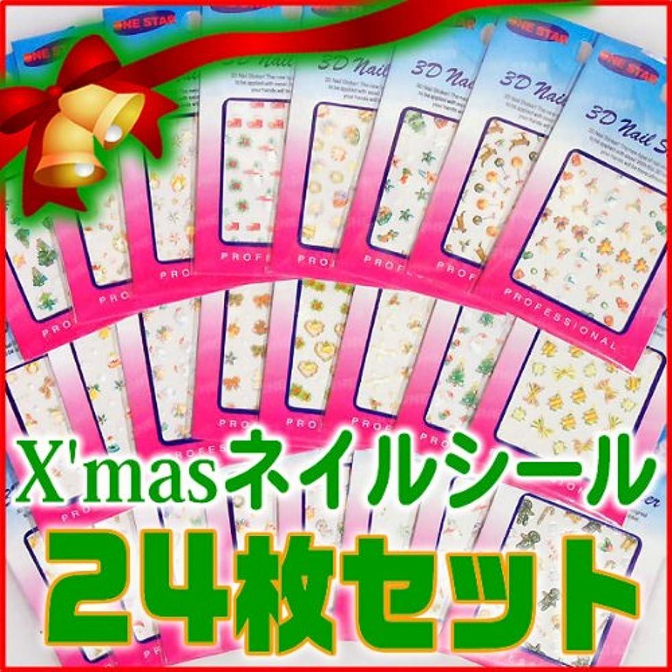 損なう焼く交通ネイルシール 福袋 クリスマスネイルシール24枚セット