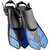 CAPAS Snorkel Fins, Snorkeling Fins Swim Fin Short Adjustable Diving Fins for Adult Men Womens Kids Scuba Diving Swimming Duc