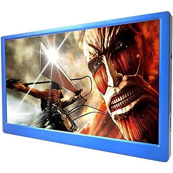 Agedok 15.6 インチ 4K 2160P モバイルモニター,ゲーム高解像度ビデオモニタディスプレイ PS3/PS4/XBOX360 用対応できる スピーカ (ブルー)