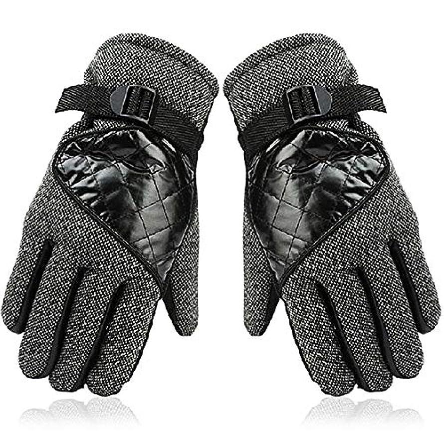定刻やる奨励します暖かくベルベットのニットの男性と女性の秋と冬の防風ライド厚いウールの手袋