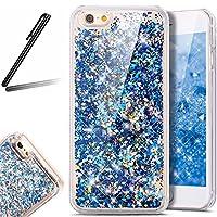 iPhone 7 ケース,iPhone 7 流れる 液体 ケース,iPhone 7 カバー,SKYMARS 流れる フローティング ラグジュアリー グリッター ス バンパー ケース iPhone 7 4.7 インチ カバー (Blue)