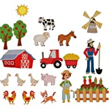 Farm Animals Felt Flannel Boards Stories Precut Figures for Toddlers Preschool, Craft Toy Gifts for Kids as Storytelling Inte