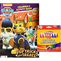 Paw Patrol Pup Tricks and Treats Halloween Coloring and Activity Book with Crayons