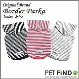 PET FiND犬 服 犬の服 ドッグウェア 綿100% 犬 パーカー 服 チワワ、トイプードル、ミニチュアダックス ボーダー DL,ネイビー