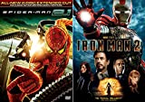 Iron Man 2 VS Spider-Man 2.1 Marvel DVD - Web Slinger Super hero movie Set