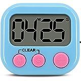 Digital Kitchen Timer, Gyvazla Mini Portable Digital LCD Display Cooking Timer, Large Display, Loud Alarm, Timer Memory Recal