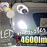 ピカキュウ コペン セロ[LA400K]LED MONSTER L4600 ハイビームバルブキット ホワイト6600K (H8/H11/H16兼用) LMN111