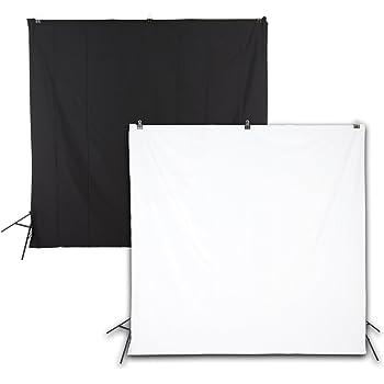 WholeProducts 背景布 バックスクリーン 黒 白 白黒兼用 200cm*200cm 撮影用 リバーシブル 透けない 厚地 防しわ加工 継ぎ目なし 色落ちしない 洗濯可