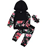 Baby Girl Daddy's Girl Hoodies Sweater Shirts Top+Floral Pants 2Pcs Fall Outfit Clothes for Infant Toddler