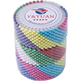 Y&YUAN Color Dressmaker Pins with Pearlized Ball Head for Sewing and Quilting, 1440 Pieces