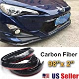Sugo Racing JDM Carbon Fiber Black Front Bumper Lip Guard Protector Air Dam 2x98 [並行輸入品]
