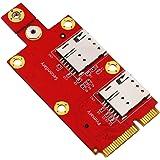 Timack M.2 Key B to Mini PCI-E Adapter with Dual Nano SIM Card Slot for 3G/4G/5G Module