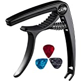 Bee-life Multi-function Guitar capo,Guitar Accessories for Electric Guitar,Acoustic,Classical,Ukulele,With 3 Pcs Celluloid Gu