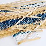 Dowonsol 21種類 各5個(合計105個)3W 抵抗 10KΩ-91KΩ 金属皮膜抵抗 鉛リード    許容差1% 金属皮膜抵抗 色つきリング