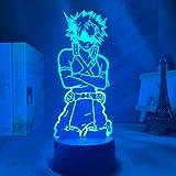 Acrylic 3D Lamp Anime My Hero Academia Dabi Led Light for Bedroom Decor Cool Manga Him RGB Colorful Night Light Dabi (DM55)
