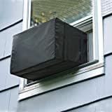Luxiv Window Air Conditioner Cover, Window AC Unit Cover Black Dust-Proof Waterproof AC Cover Outdoor Window AC Protection Co