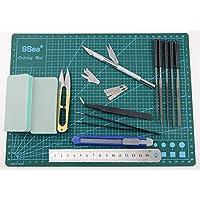 LENX 15 PCS Gundam Modeler Basic Tools Craft Set For Car Model Assemble Building(F) by LENX
