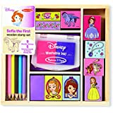 Melissa & Doug Disney Sofia the First Woodenスタンプセット