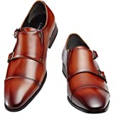 [ライムガーデン] ビジネスシューズ メンズ ダブル モンクストラップ 紳士靴 LG206