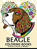 Beagle Coloring Book: Cute Puppy and Dog Coloring Books for Adults