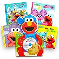 Sesame Street Elmo Book Super Set For Toddlers - 5 Book Set (Deluxe Elmo Board Book with CD and 4 Storybooks) [並行輸入品]