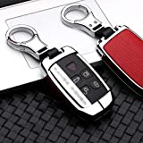 ontto for Land Rover Key Fob Cover Keyless Prevent Scratches Metal Leather Key Protector Skin Shell Keychain Fit for Range Ro