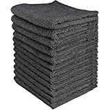 Utopia Towels Luxury Cotton 600 GSM Washcloths - 12 Pack - Extra Soft Wash Cloths (Grey)