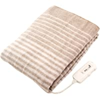 コイズミ 電気毛布 敷き毛布 丸洗い可 頭寒足熱配線 ダニ退治 抗菌防臭 130×80cm KDS-4061