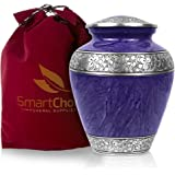 SmartChoice Royal Cremation Urn for Human Ashes - Affordable Funeral Urn Adult Urn for Ashes Handcrafted Urn Purple