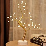 """20"""" Tabletop Bonsai Tree Light with 36 Pearls LED, DIY Artificial Light Tree Lamp Decoration for Gift Home Wedding Festival H"""
