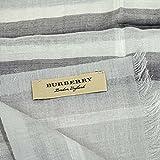 BURBERRY(バーバリー)マフラーGAUZE GIANT CHK 3996376 PALE GREY [並行輸入品]