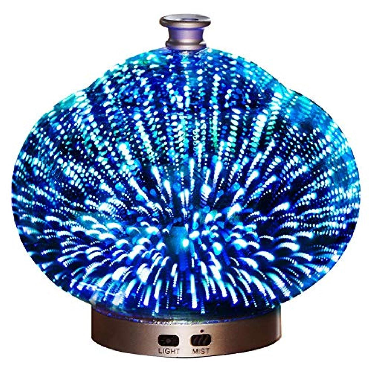 和解する勇敢な壮大3 D ガラス 精油 ディフューザー, 超音波式 クールミスト アロマディフューザー ホーム ミュート 加湿機 の ベッド オフィス Yoga-a
