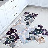 Kitchen mats Cushioned,Non-Slip Oil Proof Waterproof PU PVC Carpet for Living Room Modern Kitchen Mat Bedroom Rug,Dreamland,4
