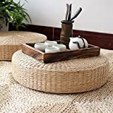 40cm Round Pouf Tatami Natural Straw Meditation Mat Cushion Floor Yoga Zafu Wicker Mat