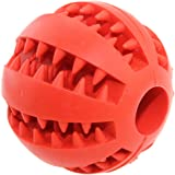 Aduck Durable Dog Ball Toys for Aggressive Chewers Teething Cleaning [Dental Treat] [Bite Resistant] Natural Soft Bouncy Rubb