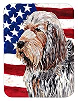 Caroline's Treasures Otterhound with American Flag USA Mouse Pad/Hot Pad/Trivet (SC9636MP) [並行輸入品]