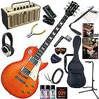 GRASSROOTS エレキギター 初心者 入門 ESP直系のブランド 人気のレスポール レトロなデザインで多機能・高音質のYAMAHA THR5が入ってる大人の19点セット G-LP-60S/HB(ハニーサンバースト)