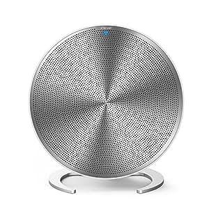 iClever Bluetooth スピーカー デジタルオーディオ 4.2 20w バックライト ワイヤレス マイク Loud Bass アルミニウム合金 18ヶ月保証 ポータブル iPhone iPad Samsung スマホ ホワイト IC-BTS09