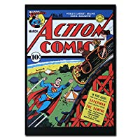 Rollercoaster Action Superhero オリジナル・ポストカード Superman DC Comics Rollercoaster Action Superhero カードギフト