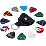 Anpro 12 Pieces Guitar Picks 0.46mm 0.71mm 0.96mm with 1 Guitar Pick Holder for Guitars