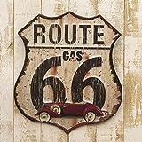 アメリカン ヴィンテージ風 アイアン プレート (Route66) ブリキ 看板 ボード アメリカ 雑貨 アメリカン雑貨 インテリア 世田谷ベース ルート66 グッズ
