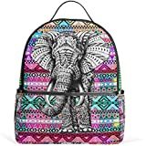 JSTEL Aztec Elephant School Backpack 4th 5th 6th Grade for Boys Teen Girls Kids