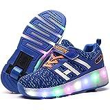 [ファッション?フロント] ローラーシューズ 光る靴 スニーカー 子供用 LEDライト付き 子供用 2輪タイプローラーシューズ